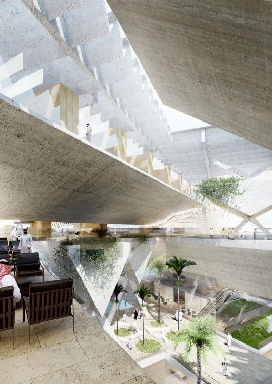 "AGi architects' ""Floating"" Courthouse Wins Second Prize in Qatar Competition"