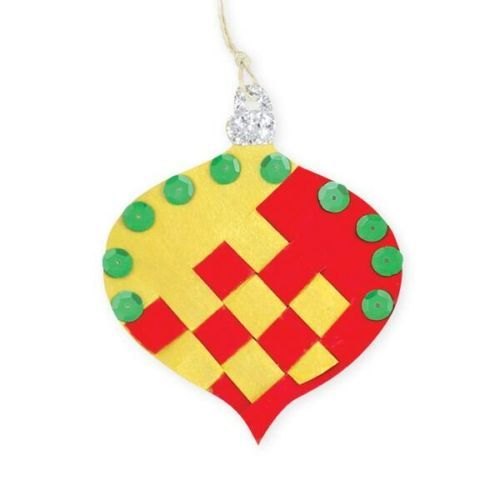 Cardboard Weaving Baubles - Pack of 5 - - - FREE DELIVERY ACROSS AUSTRALIA