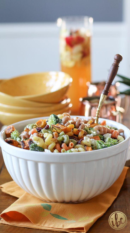 Fall pasta salad - Delicious Fall Pasta Salad Recipe Fall Harvest Pasta Salad Via Inspiredbycharm Com
