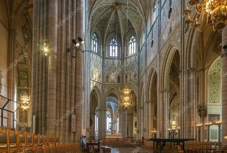Znalezione obrazy dla zapytania katedra w uppsali wnętrze
