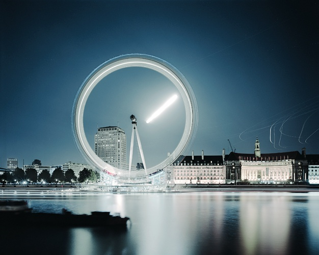London Eye (Moonrise), London, 2006  by Guy Sargent