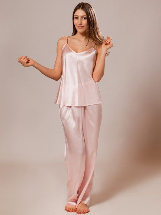 Experience unparalleled glamour and elegance when you slip into our 100% pure silk pajamas,
