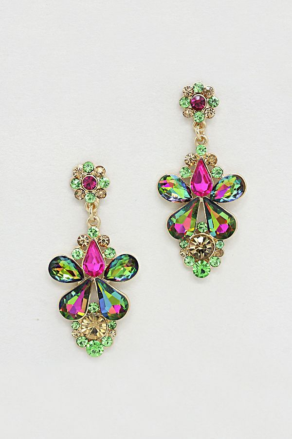 Aria Earrings in Vitrail Crystal | Women's Clothes, Casual Dresses, Fashion Earrings & Accessories | Emma Stine Limited