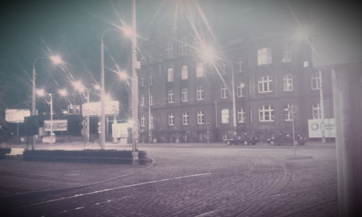 Photo Wrocław by Night (Filters Test) MonoEF. by Marcin Kubiś on 500px