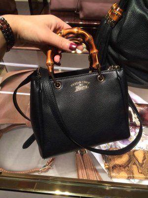 6b7c240001a7 500 us dollar from Gucci Bamboo Shopper Mini Handle Bag 368823 Black #gucci  bamboo #gucci bag #gucci purses #gucci 368823