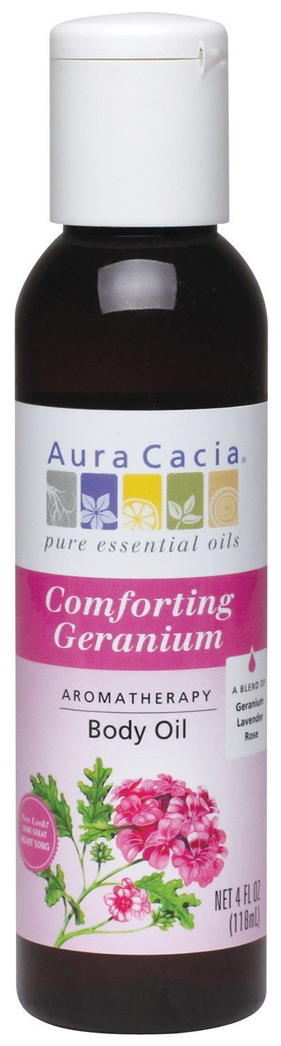 Aura Cacia Body Oil, Comforting Geranium, 4 Fluid Ounce -- Hurry! Check out this great product : Natural Beauty Care