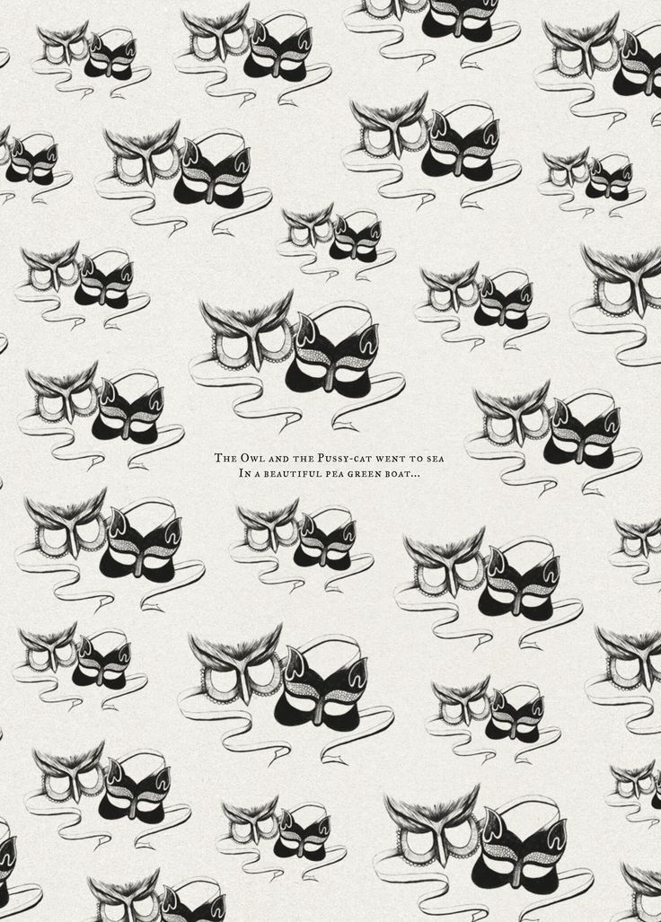 Hitched magazine Issue 3 - The Owl and the Pussycat. Illustration by www.kellythompson.co.nz