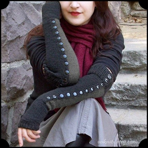Buttoned Arm Warmers $120