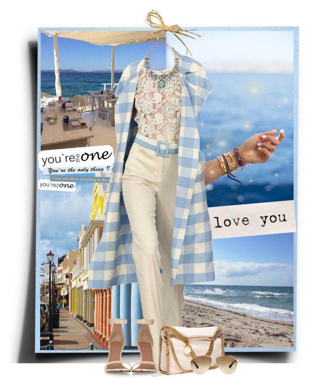 """Summer 2015"" by tina-abbara ❤ liked on Polyvore featuring Oscar de la Renta, STELLA McCARTNEY, Givenchy, Prada and DANNIJO"