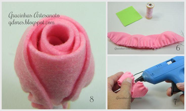 Vamos fazer rosas em feltro? | Gracinhas Artesanato