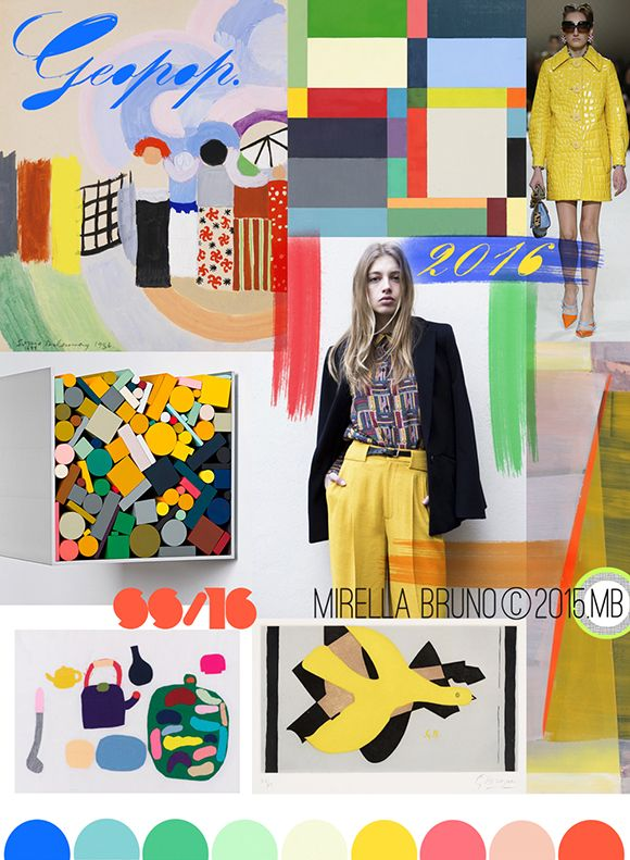 S/S16 Trend Directions. 'Geo-Pop' by Mirella Bruno. As seen in EclecticTrends. http://cargocollective.com/mirella-bruno-print-designs/Inspiration-Information