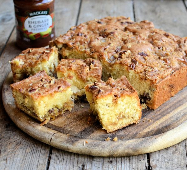 "Secret"" Baked Layer Cake: Scottish Rhubarb & Ginger Crunchy ..."