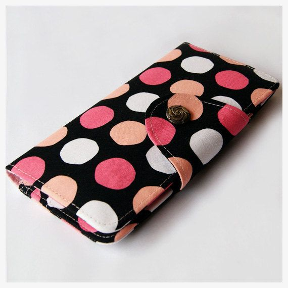 Colorful Dots WOMEN VEGAN WALLET Bifold Wallet Women Wallet