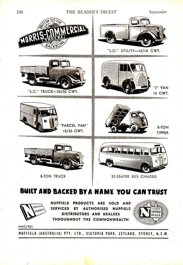 https://flic.kr/p/J3JBYS   '52 Morris Commercials Nuffield Aussie Original Magazine Advertisement