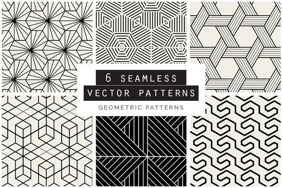 Geometric Seamless Vector Patterns by Youandigraphics on @creativemarket