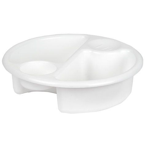 Buy John Lewis Value Top and Tail Bowl, White Online at johnlewis.com