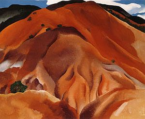Georgia O'Keeffe Red Hills Beyond Abiquiu 1930 - Reproduction Oil Paintings