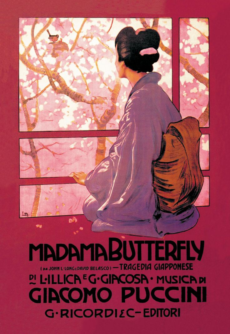 """Madame Butterfly Opera Poster, very tragic story.   I saw this """"in the round"""" at The Albert Hall - magnificent"""