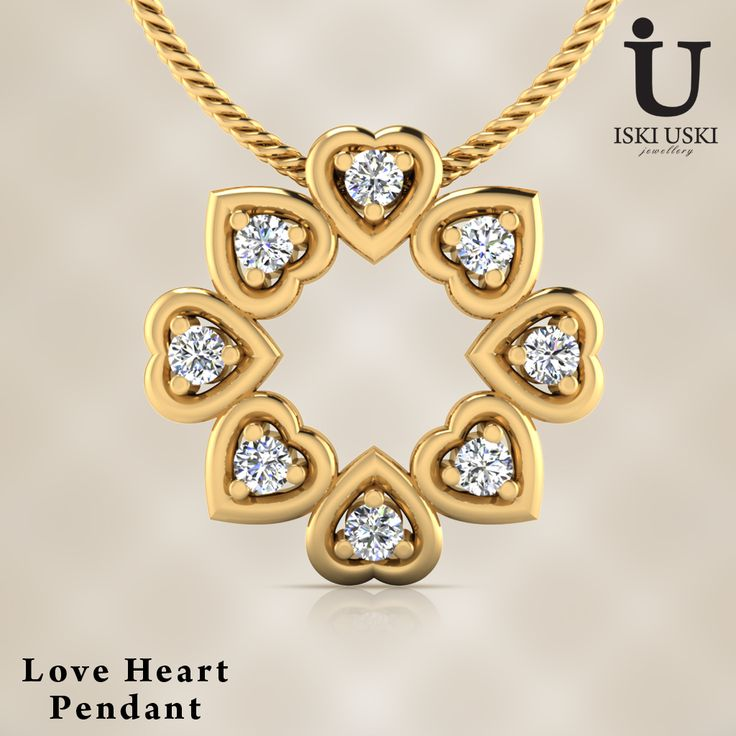 Buy This Gorgeous Love Hurts Pendant Online#Pendants #DiamondPendants #IskiUski #Love #LovePendants