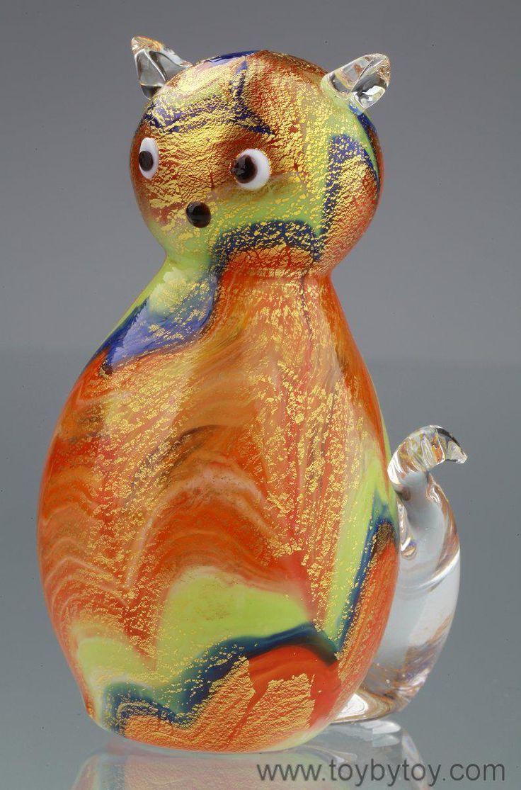 Венецианский зоопарк Серия статуэток из муранского стекла с золотой фольгой  Производитель - Италия (Венеция). Муранское стекло, золотая фольга.