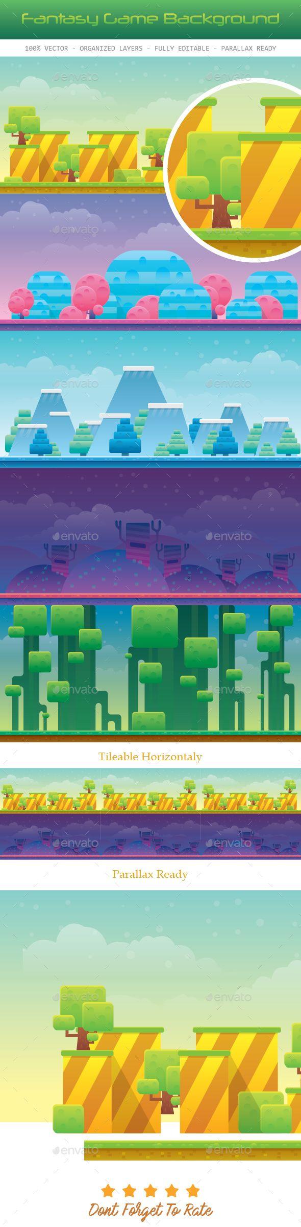 5 Fantasy Game Background