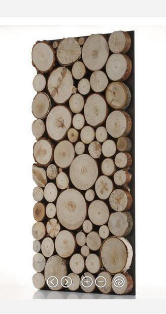 original decorative wall panels wall logs effect natural wood - Decorative Wood Panels