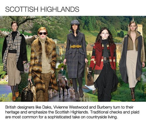 Top 5 trend themes Womens F/W 2013-14, Scottish