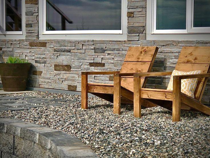 2x4 modern adirondack chair ana white in 2020 modern