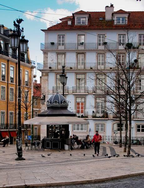 Luis de Camoes square - Lisbon - PORTUGAL