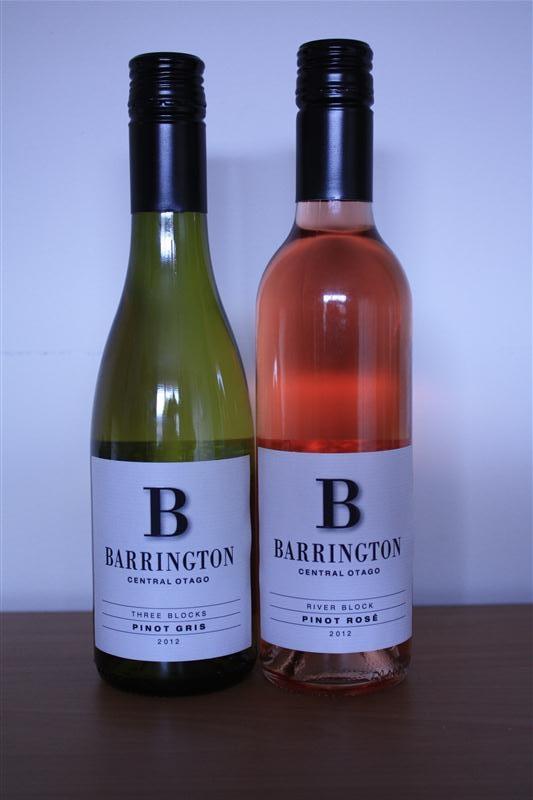 Barrington Three Blocks Pinot Gris 2012 and Barrington River Block Pinot Rosé 2012