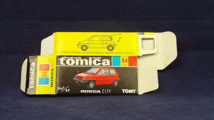 TOMICA 054C HONDA CITY   1/57   ORIGINAL BOX ONLY   1981-1983 JAPAN (B