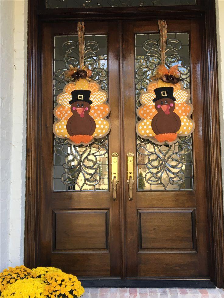 Turkey Burlap Door Hangers