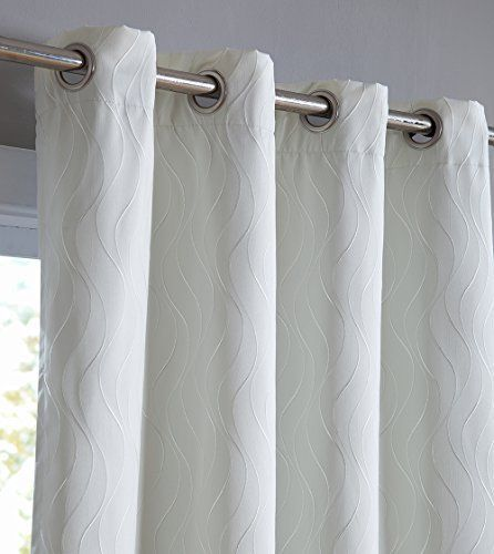 """HLC.ME Camden 100% Blackout Thermal Window Curtain Grommet Panels - Energy Efficient, Complete Darkness, Noise Reducing - Great for Living Rooms & Bedrooms - Set of 2 (50"""" W x 96"""" L, Ivory) #HLC.ME #Camden #Blackout #Thermal #Window #Curtain #Grommet #Panels #Energy #Efficient, #Complete #Darkness, #Noise #Reducing #Great #Living #Rooms #Bedrooms #Ivory)"""