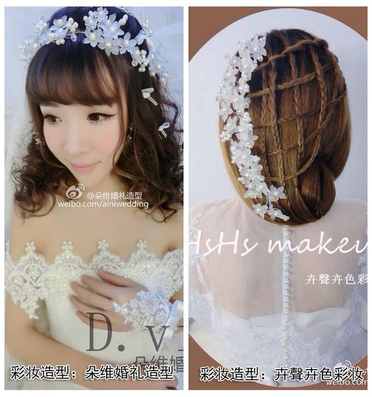 Йи Манди невесты свадебный головной убор корейский ювелирные изделия ручной работы из матового лепестки короткие волосы свадебные аксессуары аксессуары для волос свадебные -tmall.com Lynx