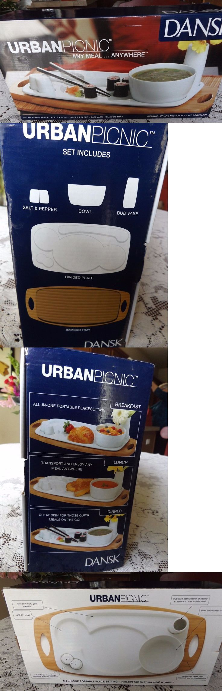 Patio and Picnic Ware 79692: Dansk Urban Picnic Cafe Blanc Any Meal Anywhere New In Box -> BUY IT NOW ONLY: $34 on eBay!