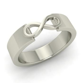 Men's Wedding Band in 14k White Gold