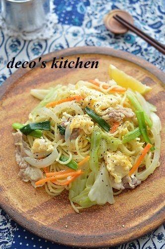 うちの塩焼きそばは、こんな感じ。 ~もりもり野菜&卵必須!隠し味は ...