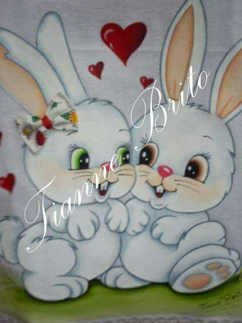 Quero coelhinhos para bordar em panos de prato ok