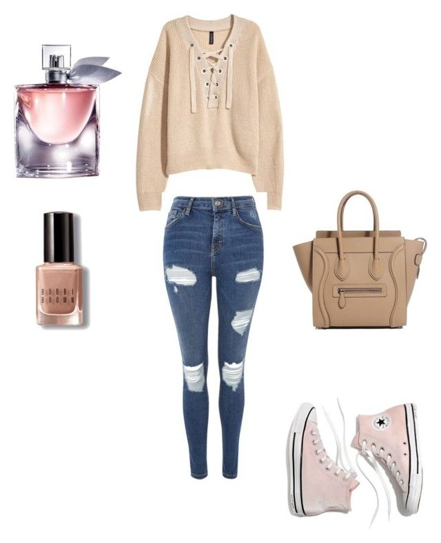 """""""simple"""" by christina-rasl on Polyvore featuring mode, Bobbi Brown Cosmetics, Topshop, Madewell et Lancôme"""