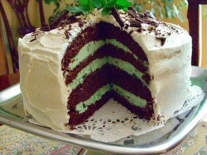 Chocolate Mint Ice Cream Cake - Cake Mix Doctor