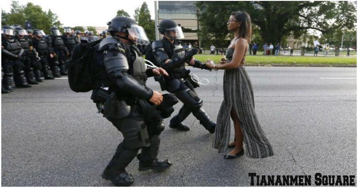 Black Lives Matter Protester in Baton Rouge, La., Compared to 'Tiananmen Square' Image