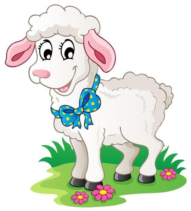 Cute Cartoon Lamb Wall Mural Pixers We Live To Change Cartoon Lamb Cute Cartoon Sheep Cartoon