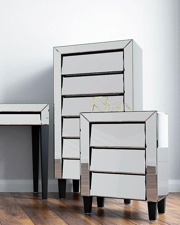 chevet #chifonnier #miroir #design #deco #mobilier #chambre ...