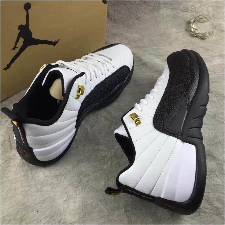 Mens Air Jordan Retro 12 Grey Black shoes