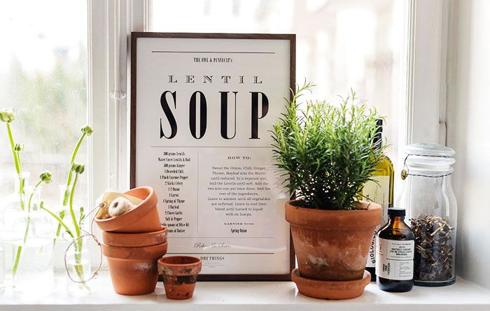 Lentil Soup / http://www.drythings.se/