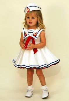 patriotism baby pageant wear   to babies 3522 baby sailor a great nautical white ottomen dress infant ...