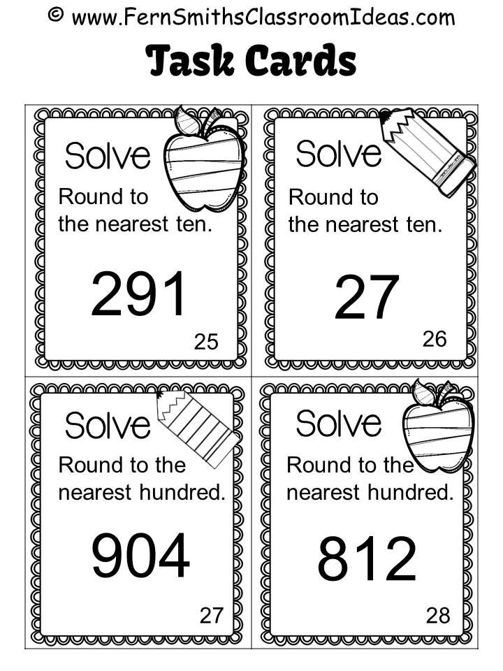 74 best Classroom Math Task Cards images on Pinterest