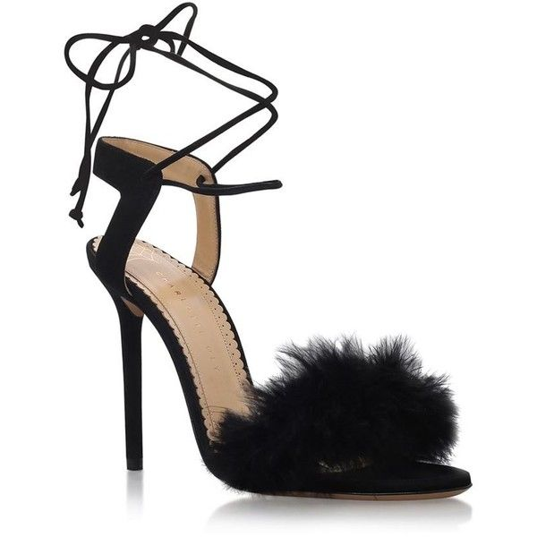 Charlotte Olympia Salsa 110 Heels ($605) ❤ liked on Polyvore featuring shoes, pumps, strap pumps, evening shoes, high heeled footwear, ankle strap pumps and ankle strap shoes