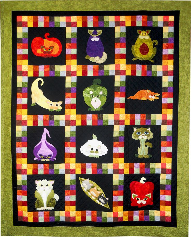 Here Is The Garden Patch Cats Quilt But As You Can See We Have More Cats