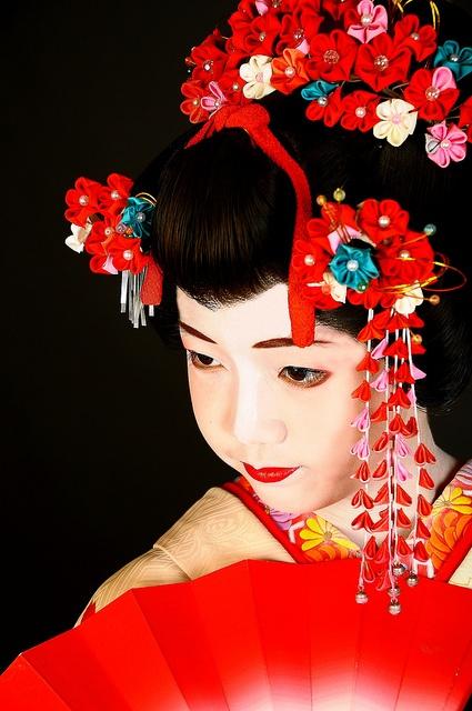 Maiko--bright, vivid red